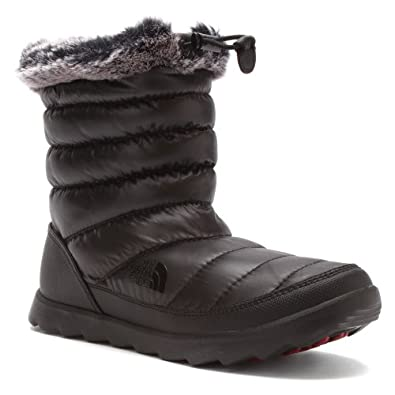 The North Face Thermoball Micro Baffle Bootie Shiny Black Ladies Winter Boots by The North Face