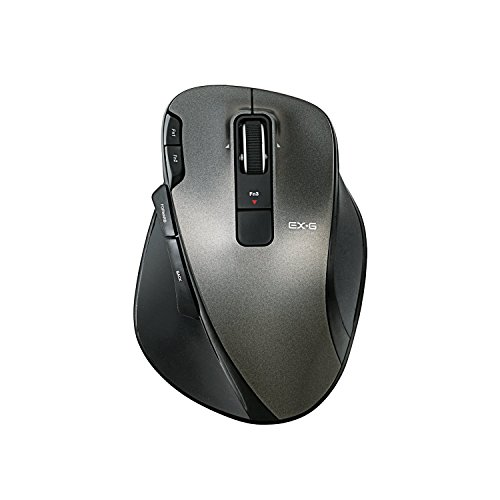 ELECOM wireless laser mouse UltimateLaser grip height 8 button black M-XG3DLBK
