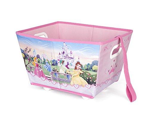 Disney Princess - Cesta per i giochi, con rotelle e maniglia per tirarla