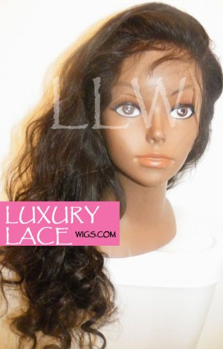 18 in. Luxury Lace Brand Malaysian BodyWave Full Lace Wig Color #2 W/Free Shipping