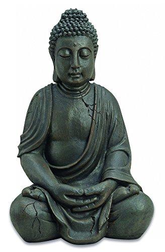 Buddha-Figur-Statue-sitzend-Indonesien-Antik-Stil-51cm
