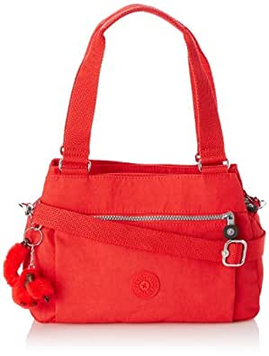 Kipling Orelie, Sac porté épaule - Rouge (Cardinal Red), Taille Unique
