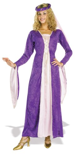 Rubies Halloween Renaissance Princess Adult Std Dress Size 10-12 Purple