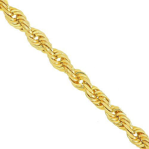 JewelStop 14k Solid Yellow Gold 1.5mm Diamond-cut Rope Chain, Lobster Claw Clasp - 20""