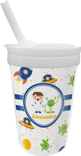 Boy'S Space Themed Sippy Cup With Straw (Personalized) front-308541