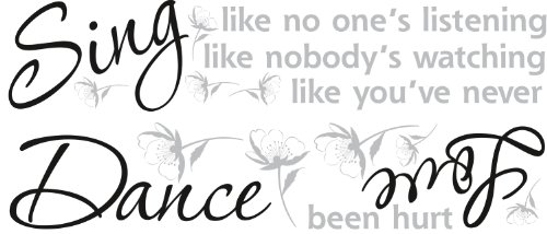 ROOMMATES RMK1552SCS  Dance, Sing, Love Peel & Stick Wall Decals