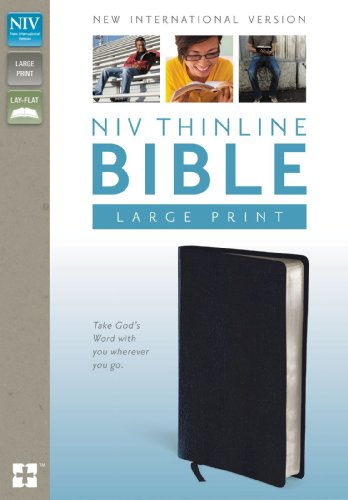 NIV-Thinline-Bible-Large-Print-Bonded-Leather-Navy-Red-Letter-Edition