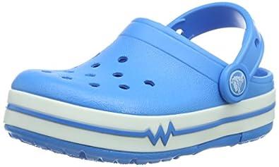Crocs Lights Ps, Sabots mixte enfant - Bleu (Ocean),  EU 24-25 (C8)