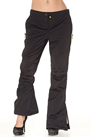 Emporio Armani BLACK Nylon Pants Trousers, M, Black