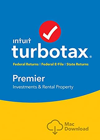 TurboTax Premier 2016 Tax Software Federal & State + Fed Efile Mac download  [Amazon Exclusive]