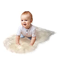 RUGLUSH TM Super Soft Sheepskin Rug - Excellent Quality Faux Fur Rug - Modern, Stylish Design - Used As An Area Rug Or Across Your Armchair - Cozy Feeling Like Real Wool - Back Lining Suede Fabric