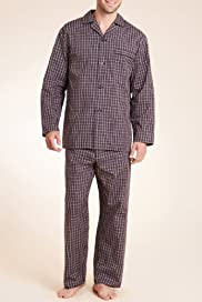 Revere Collar Mini Checked Pyjamas [T07-1483-S]