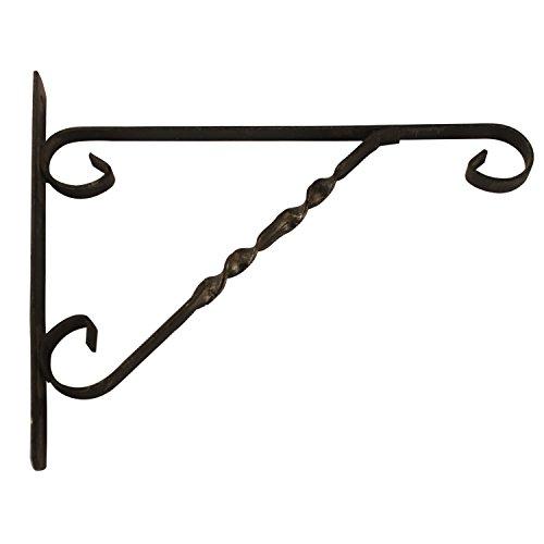 """Amagabeli Cast Iron Garden Accessories Plant Hook, 12"""" x 10"""" x 1"""", Black"""
