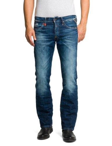 Replay Herren Straight Leg Jeanshose Waitom, Gr. W32/L32 (Herstellergröße: 32), blau (7) thumbnail