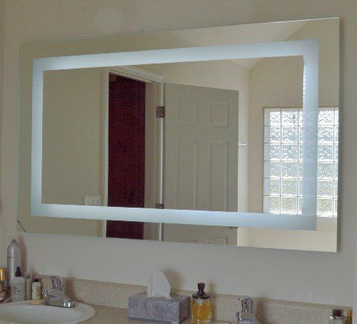 lighted vanity mirror led mam86036 commercial grade 60 wide x 36. Black Bedroom Furniture Sets. Home Design Ideas