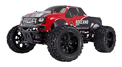 Redcat Racing Electric Volcano EPX Truck with 2.4GHz Radio, 7.2v 1800mAh NiMh and Charger Included (1/10 Scale), Red