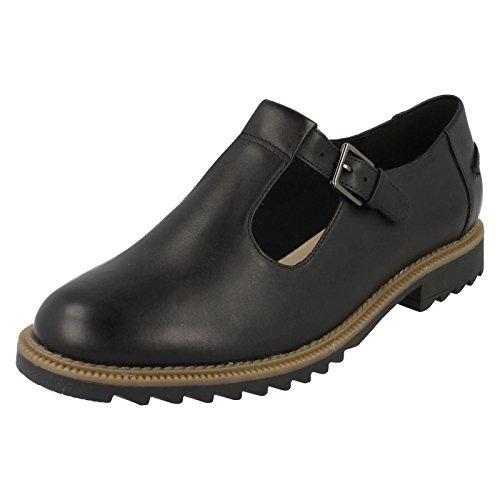 Clarks Griffin Monty Black Leather 5 UK D / 38 EU