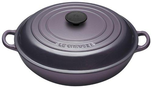 Le Creuset Cast Iron Shallow Casserole, Cassis, 30 cm