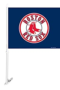 Fremont Die MLB Boston Red Sox Car Flag With Wall Bracket