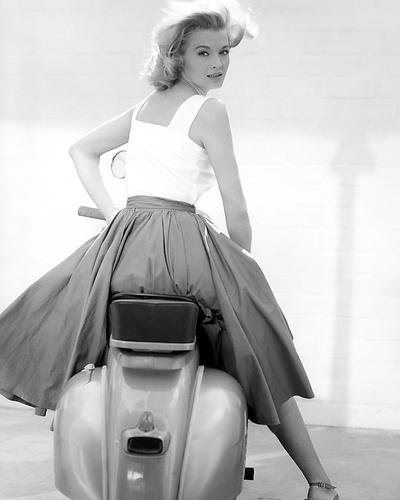 angie-dickinson-jessica-striking-pose-on-vespa-scooter-10x8-promotional-photograph