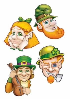 St Patrick Cutouts Party Accessory (1 count) (4/Pkg) - 1
