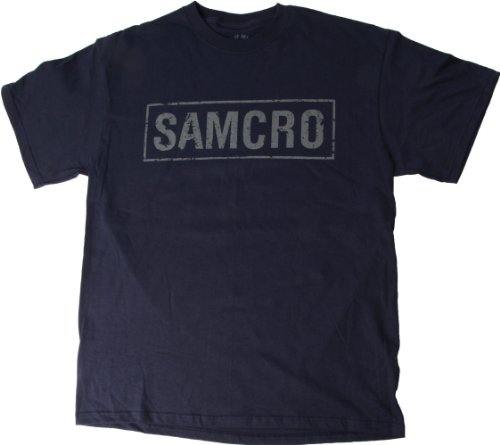Sons of Anarchy Navy Samcro Logo Shirt (XL)