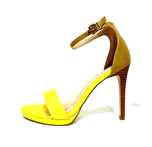 Gaudì V63-64582 sandali gialli donna tacco alto con cinturino n° 40