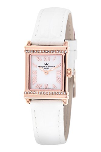 Yonger & Bresson - DCR 1695-02 - Ladies Watch - Analogue Quartz - Mother of Pearl Dial - White Leather Bracelet