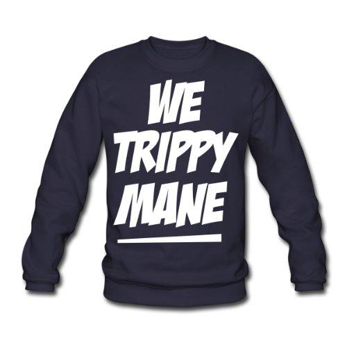 Spreadshirt, we trippy mane, Men's Sweatshirt, navy, L