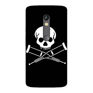 Delighted Danger Black Back Case Cover for Moto X Play