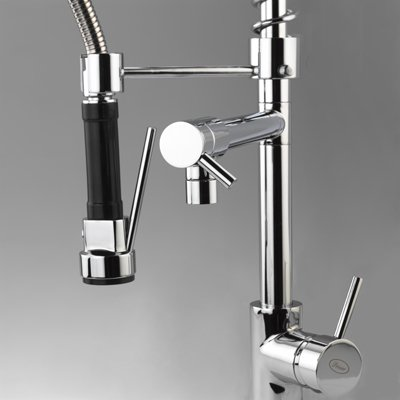 Details about Chrome Commercial & Home Pull Out Spray Kitchen Sink ...
