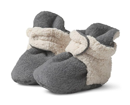 Zutano - Cozie Fleece Furry Lined Bootie - Gray - Size 6 month