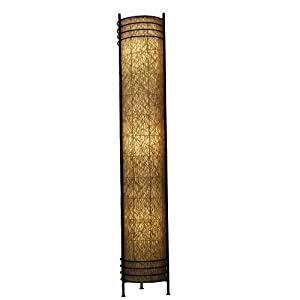 Amazon Com Eangee Tower Series Floor Lamp 48 Inch Tall Natural Floor Lamps