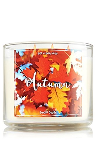 Bath and Body Works Autumn Candle - Autumn Scent 14.5 oz Large 3-wick Candle for Fall Candle Bath