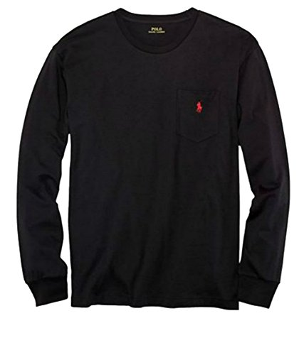 Polo Ralph Lauren Mens Long Sleeve Pocket Logo T-Shirt - S - Black