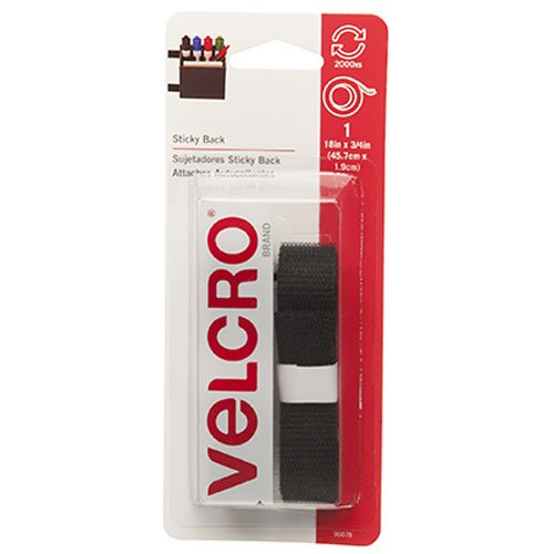 "Read About VELCRO Brand - Sticky Back - 18"" x 3/4"" Tape - Black"