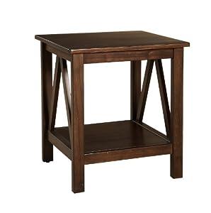 Unique The Features Linon Home Decor Titian Antique End Table