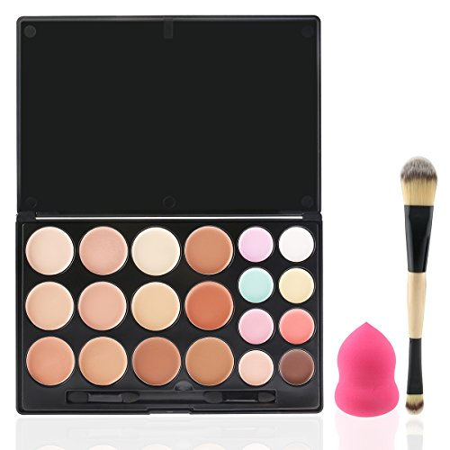 RUIMIO Palette Make Up 20 colori Trucco Kit Contour Evidenziare e Bronzing Powder Palette con Applicatori , Miscelatore e Pennello