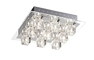 Paul Neuhaus Takos 50286-17 Ceiling Light 9-Bulb with LEDs and Remote Control by Paul Neuhaus GmbH