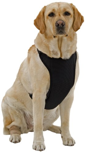 Kumfy Tailz Warming/Cooling Dog Harness, Adjustable Neck, Large, Black