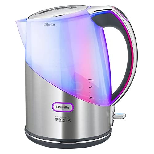 Breville Brushed Stainless Steel Brita Filter Kettle with Spectra Illumination