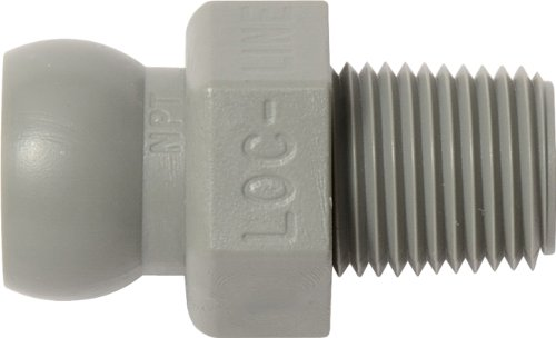 Loc-Line Coolant Hose Component, Gray Acetal Copolymer, Connector, 1/4