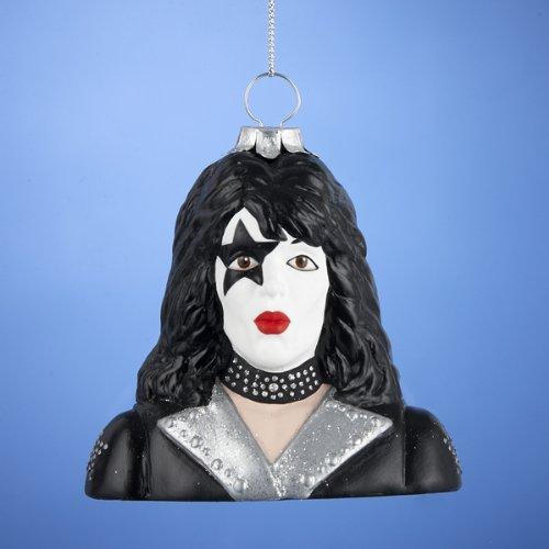 KISS Paul Stanley Star Child Bust Glass Ornament