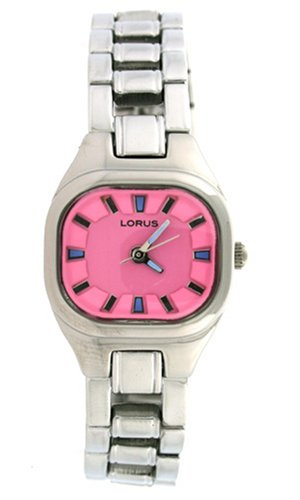 Lorus Watch Metal Adjustable Link Hot Pink Dial Ladies LR2018 Sale New Model