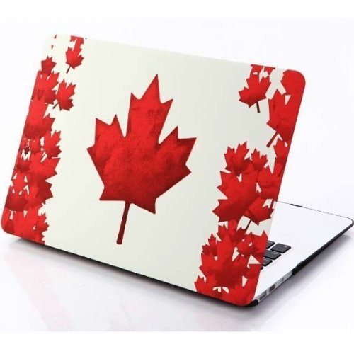 candancetmcanada-flag-maple-leaf-air-13-inch-rubberized-hard-shell-snap-on-case-cover-for-apple-macb