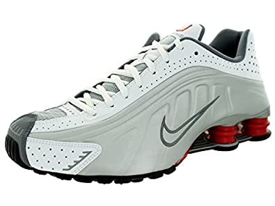 a675be7d411 White Nike Shox With Silver Swoosh Gold Blue Ring White Nike Shox ...