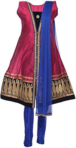 Ethnic Colors Women's Cotton Silk Salwar Suit Set - B019Z5SHFA