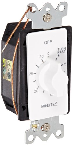 Nsi Industries A530Mw Spring Wound Auto Off In-Wall Time Switch, 30 Minute Timer Length, White
