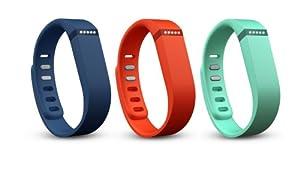 Fitbit Flex Lot de 3bracelets Orange Teal/Navy/Tangerine petit