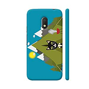 Colorpur Cat In The Camping Tent Designer Mobile Phone Case Back Cover For Motorola G Play 4th Gen / Moto G4 Play | Artist: Torben